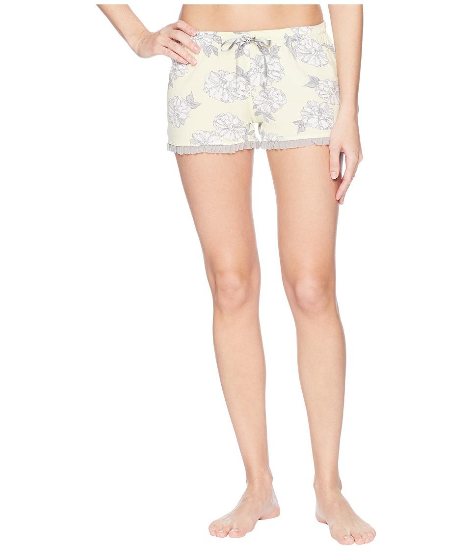 P.J. Salvage - Sunshine Days Floral Shorts (Pale Yellow) Womens Shorts