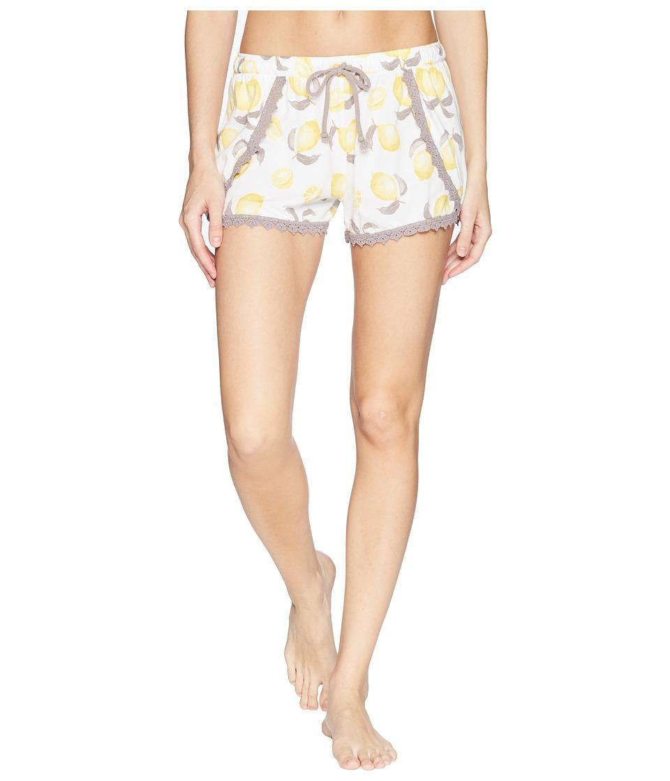 P.J. Salvage - Playful Prints Lemon Shorts (Ivory) Womens Pajama