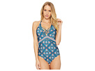 Laundry by Shelli Segal Butterfly Twin Plunge One-Piece Swimsuit