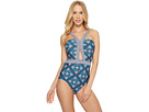Laundry by Shelli Segal Butterfly Twin Cut Out One-Piece Swimsuit