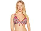 Laundry by Shelli Segal Mystic Tiles Knotted Bikini Top
