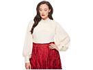 Unique Vintage Plus Size Long Sleeve Annette Blouse
