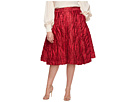 Unique Vintage Plus Size High Waist Greenwich Swing Skirt