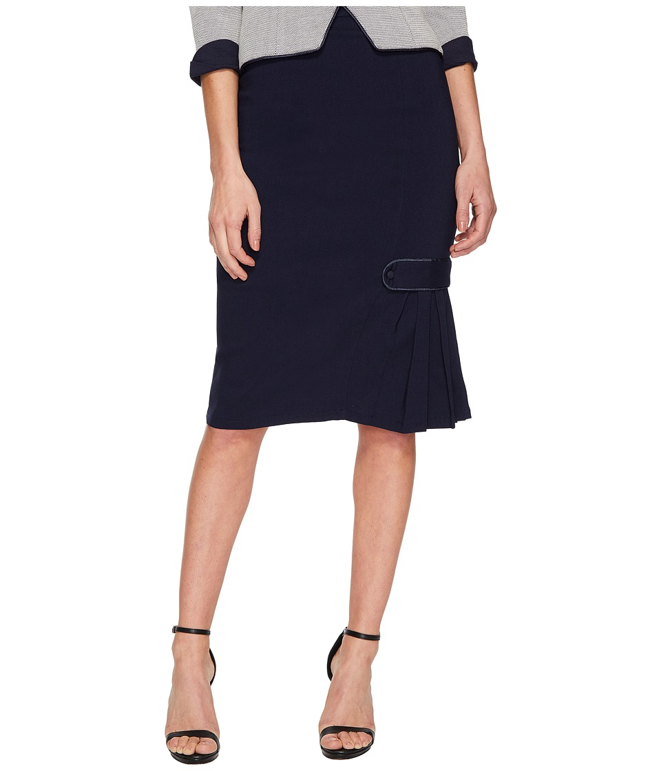Unique Vintage Hildy Pencil Skirt (Navy Blue) Women
