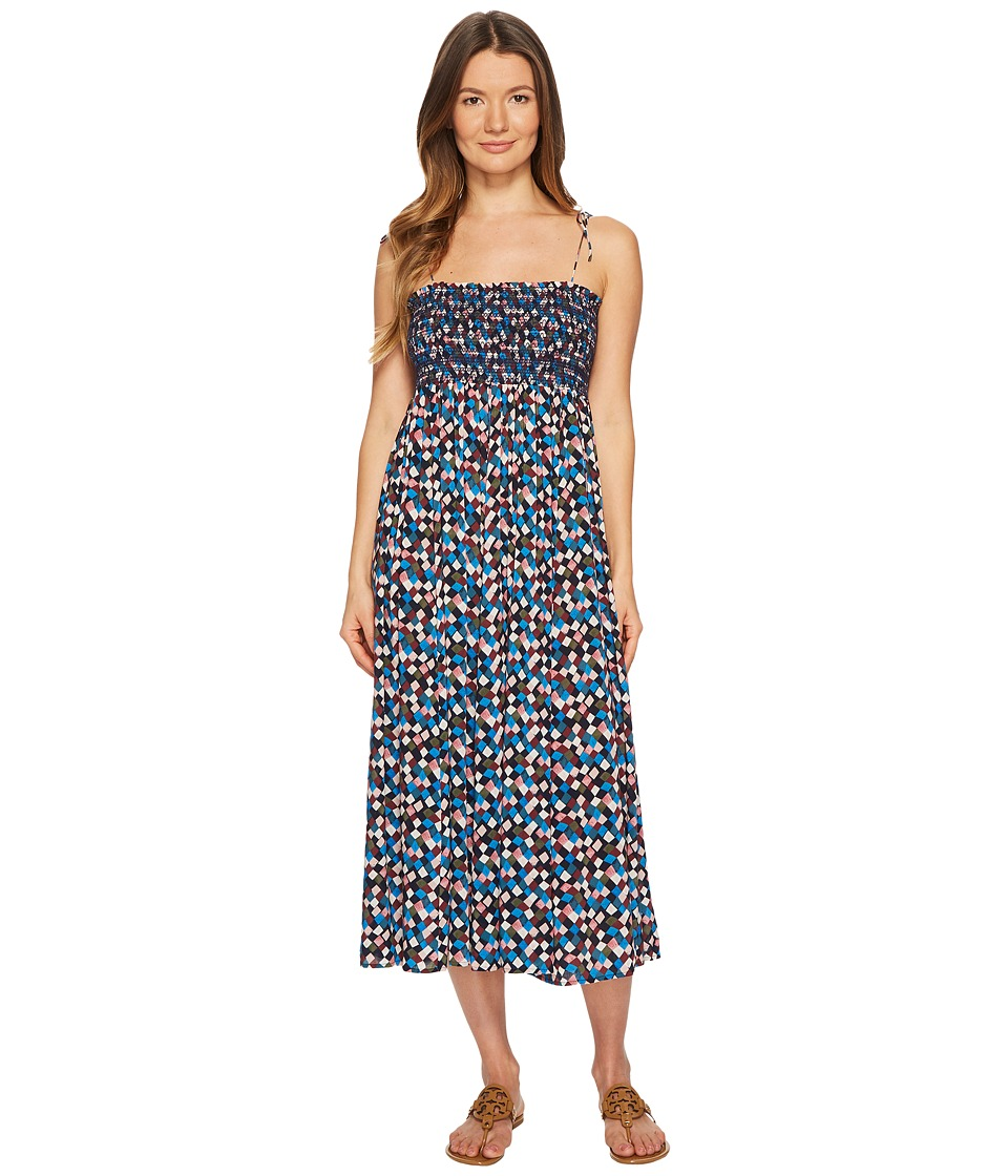 Tory Burch Swimwear - Clemence Convertible Dress Cover-Up (Navy Prism) Womens Swimwear
