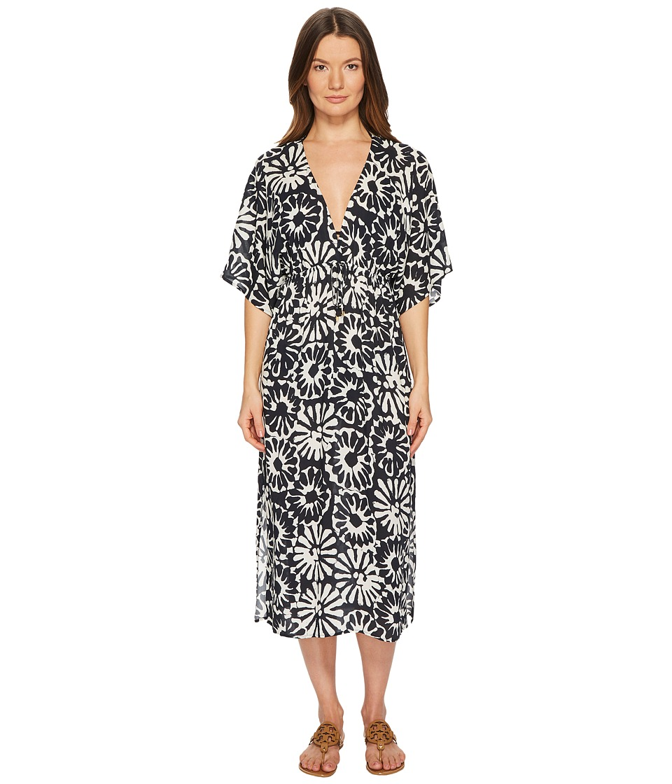 Tory Burch Swimwear - Pomelo Floral Midi Dress Cover-Up (Ivory Pomelo Floral) Womens Swimwear