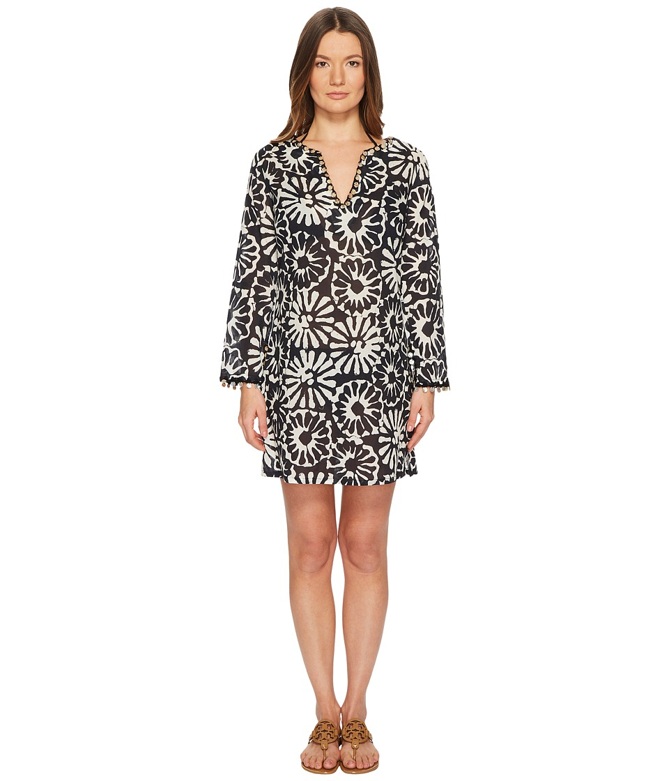 Tory Burch Swimwear - Pomelo Floral Beach Tunic Cover-Up (Ivory Pomelo Floral) Womens Swimwear