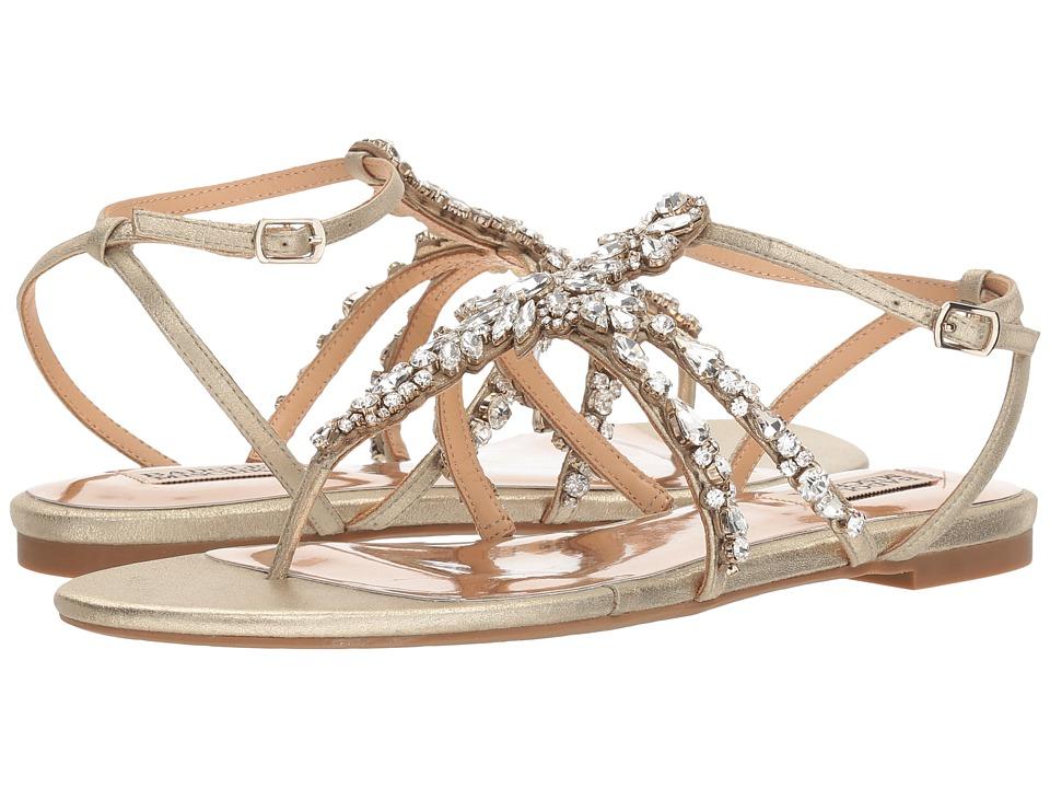 Badgley Mischka Hampden (Platino Metallic Suede) Sandals