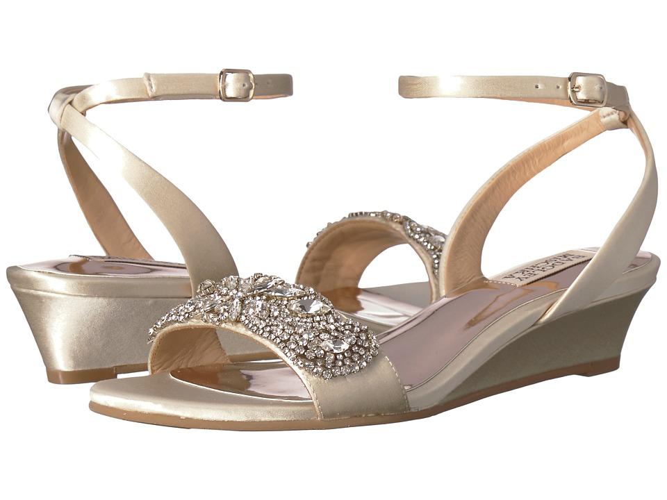 Badgley Mischka - Hatch (Ivory Satin) Womens Wedge Shoes