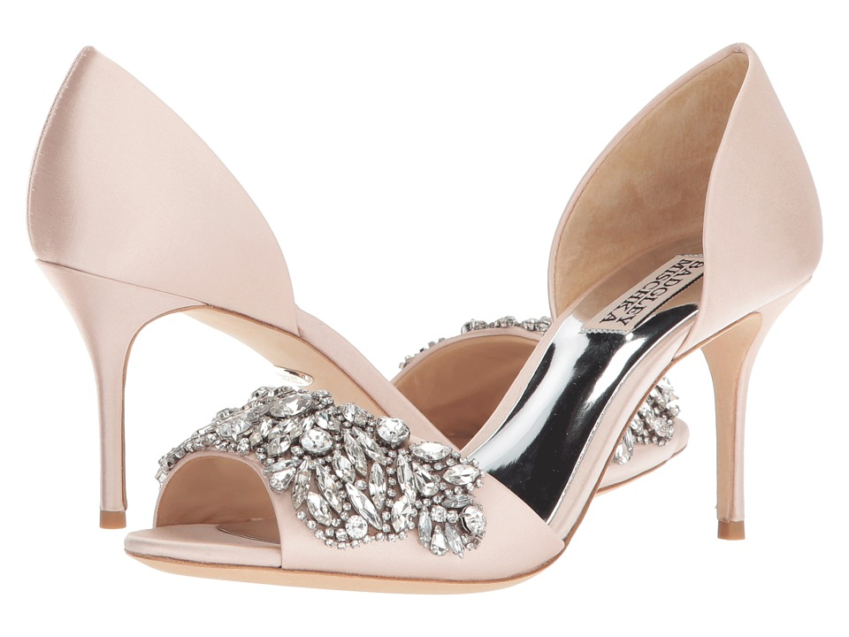 Badgley Mischka Hansen (Light Pink Satin) High Heels
