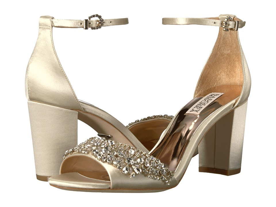 Badgley Mischka - Hines (Ivory Satin) High Heels