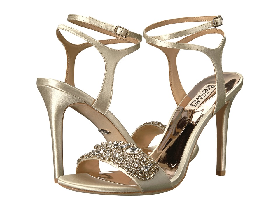 Badgley Mischka - Hailey (Ivory Satin) High Heels