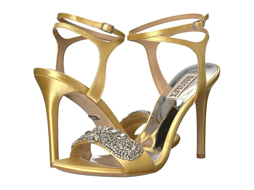 Badgley Mischka Hailey (Banana Cream Satin) High Heels