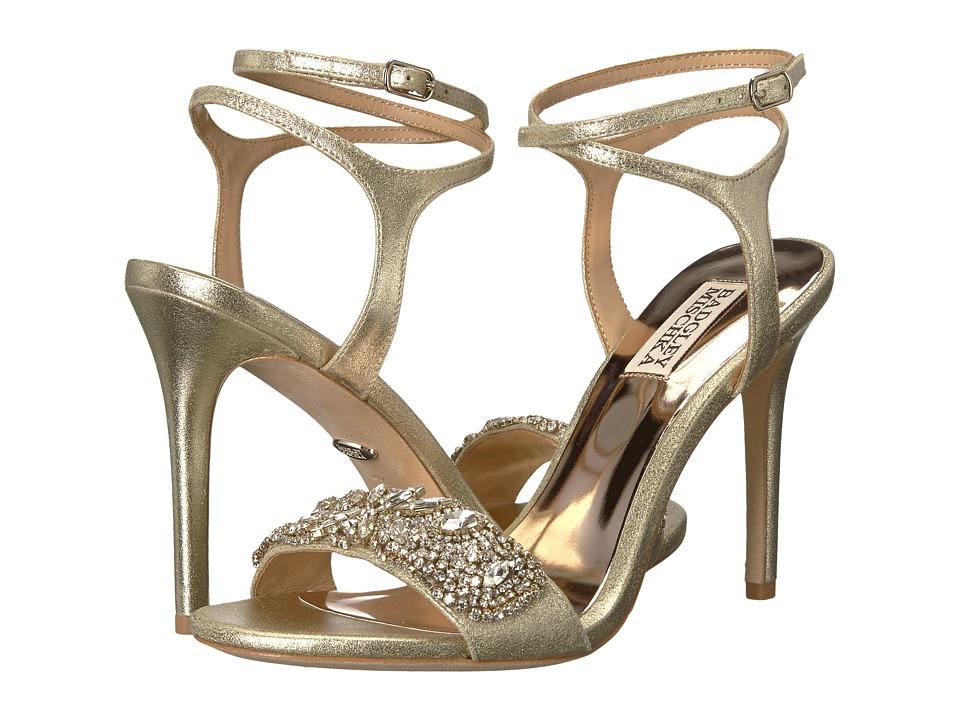 Badgley Mischka Hailey (Platino Metallic Suede) High Heels