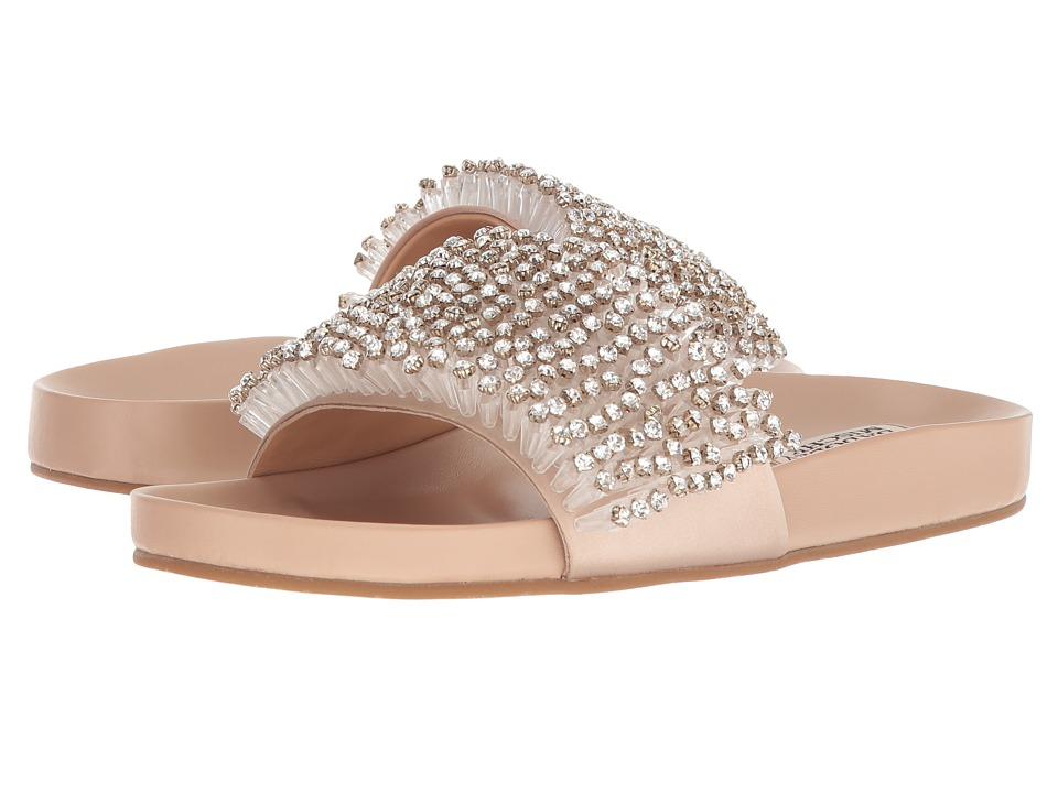 Badgley Mischka - Horton (Latte Satin) Womens Slide Shoes