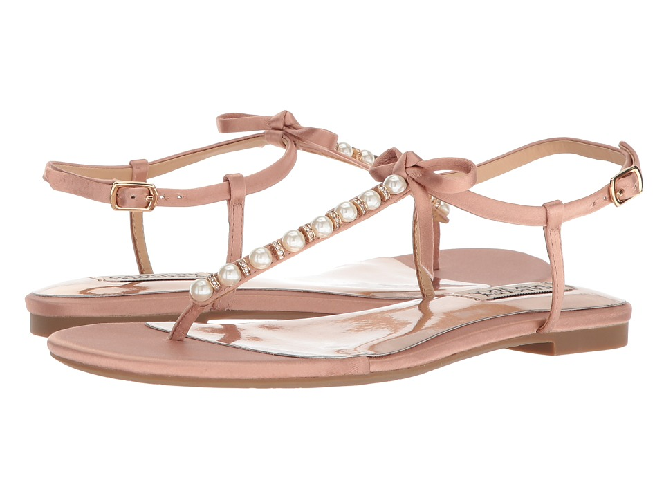 Badgley Mischka - Honey (Dark Pink Satin) Womens Sandals