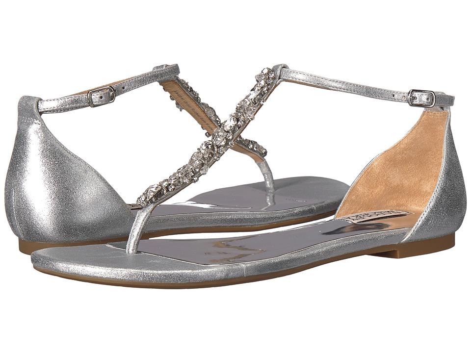 Badgley Mischka - Holbrook (Silver Metallic Suede) Womens Sandals