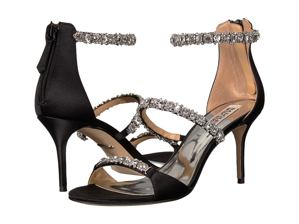 Badgley Mischka - Yasmine (Black Satin) Womens Shoes