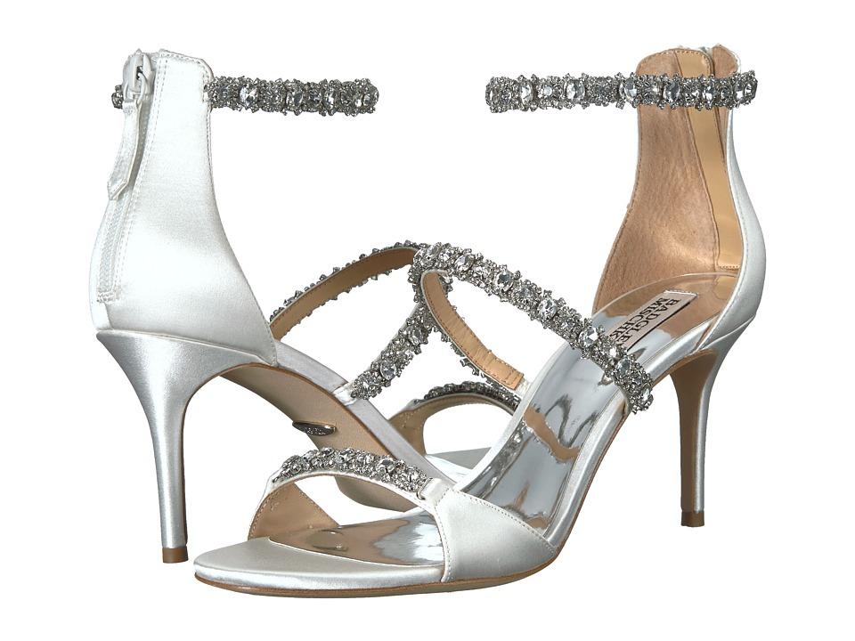 Badgley Mischka Yasmine (White Satin) Women's Shoes