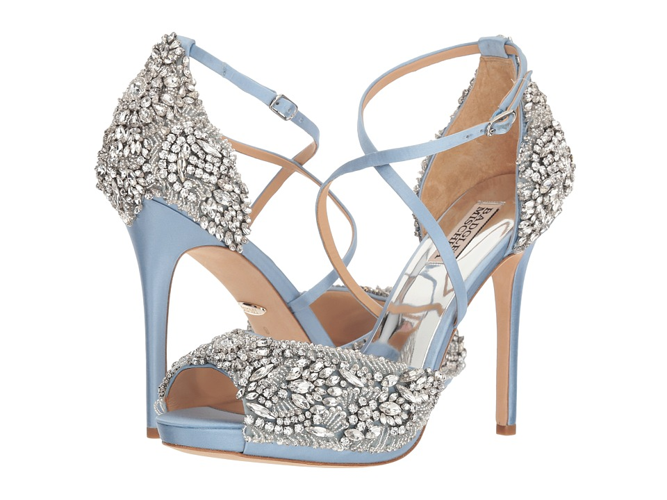 Badgley Mischka Hyper (Light Blue Satin) High Heels