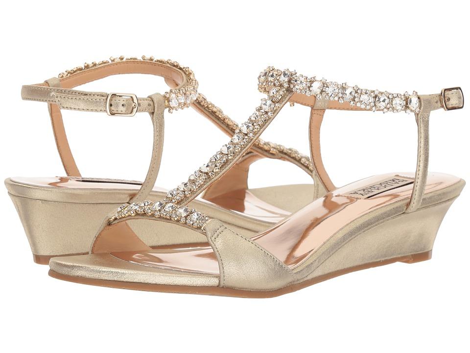 Badgley Mischka - Yadira (Platino Metallic Suede) Womens Shoes