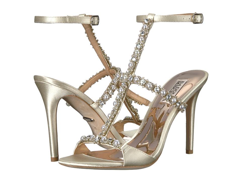 Badgley Mischka - Yuliana (Ivory Satin) Womens Shoes