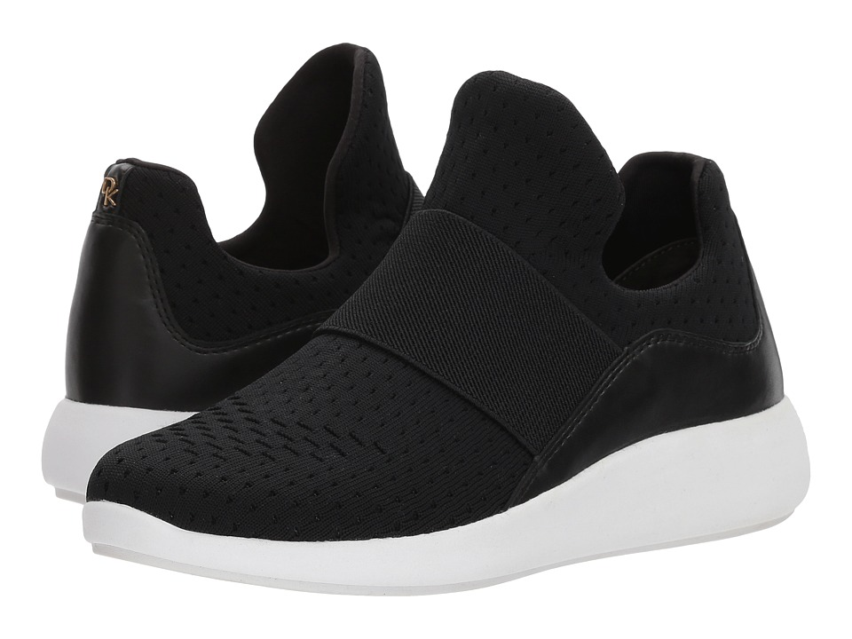 Donna Karan - Cory Slip-on Sneaker (Black Tech Knit) Womens Slip on  Shoes