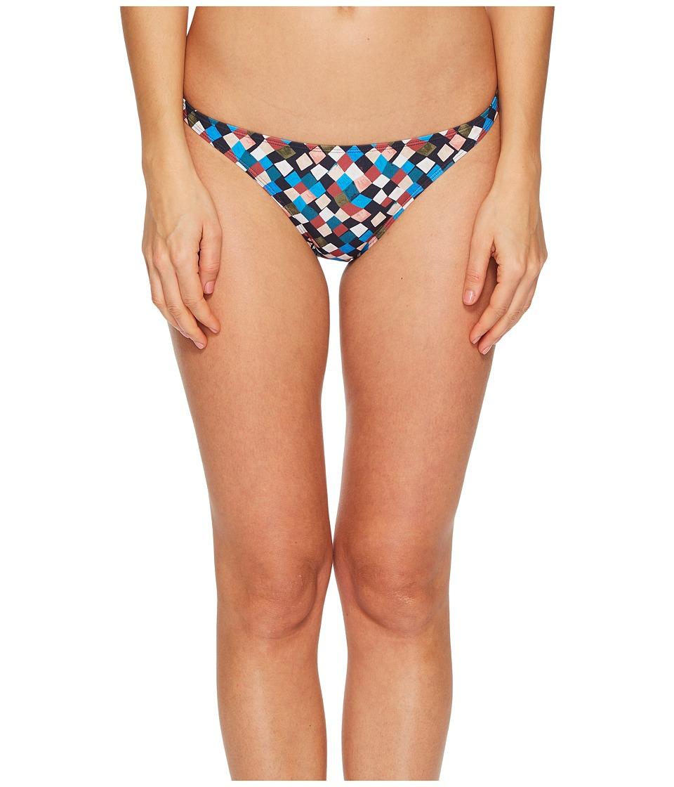 Tory Burch Swimwear Clemence Hipster Bikini Bottom (Navy Prism) Women