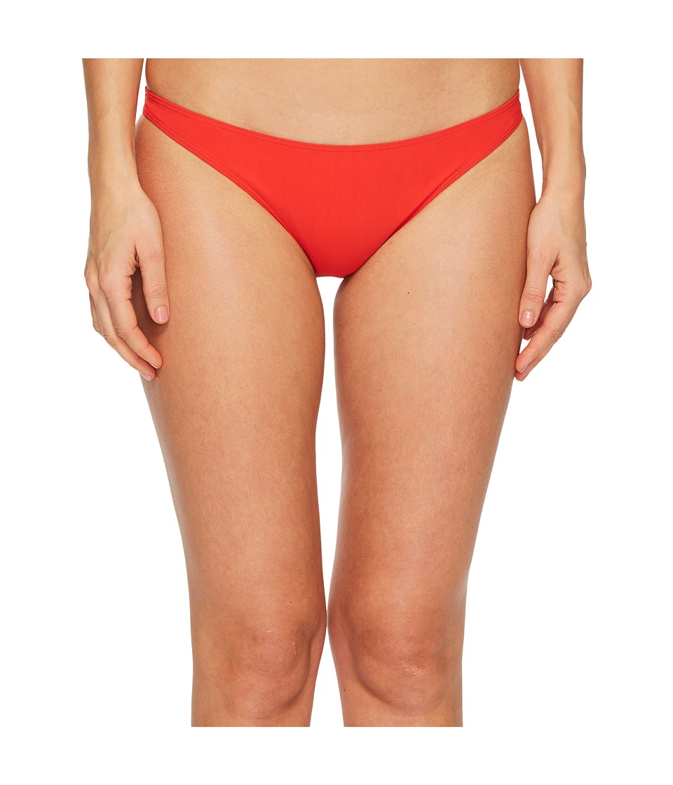 Tory Burch Swimwear - Solid Low Rise Hipster Bottom (Poppy Red) Womens Swimwear