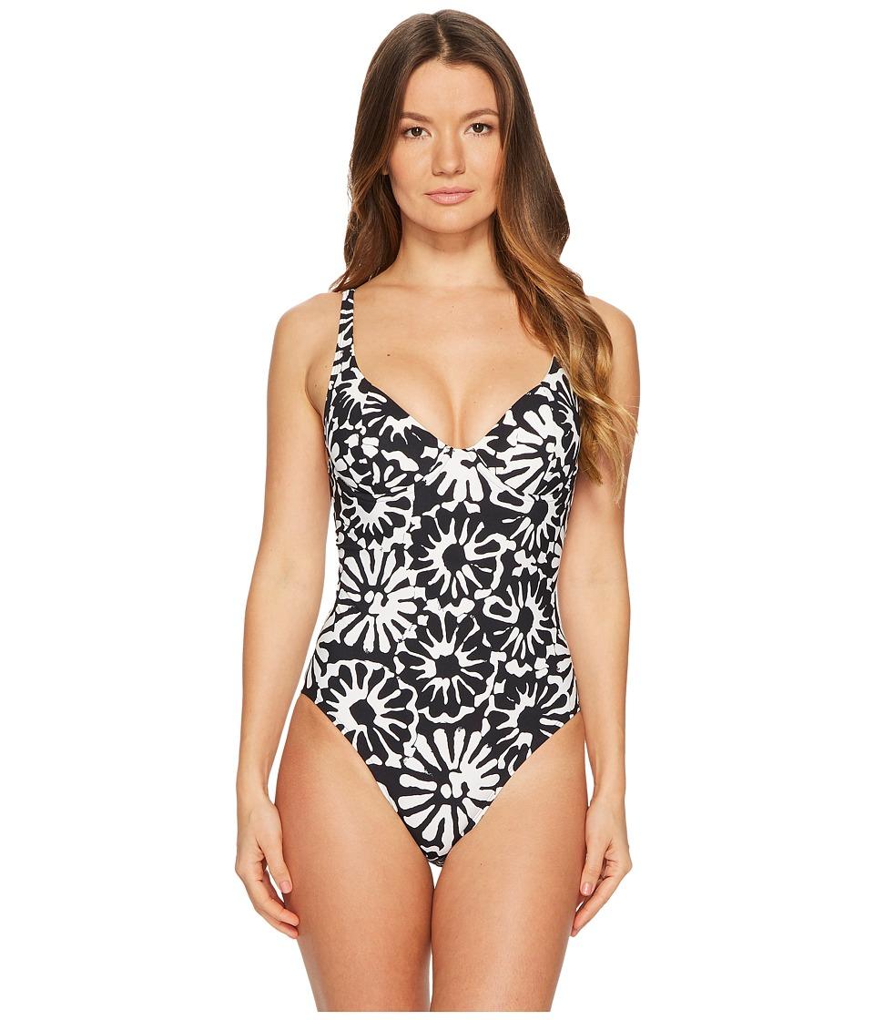 Tory Burch Swimwear - Pomelo Floral One-Piece (Ivory Pome...