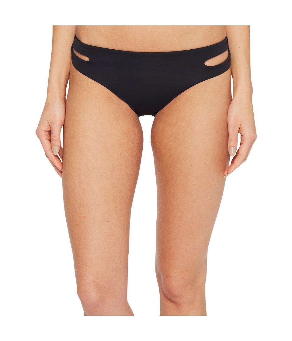 Roxy Softly Love Solid Reversible 70s Bikini Bottom (Anthracite) Women