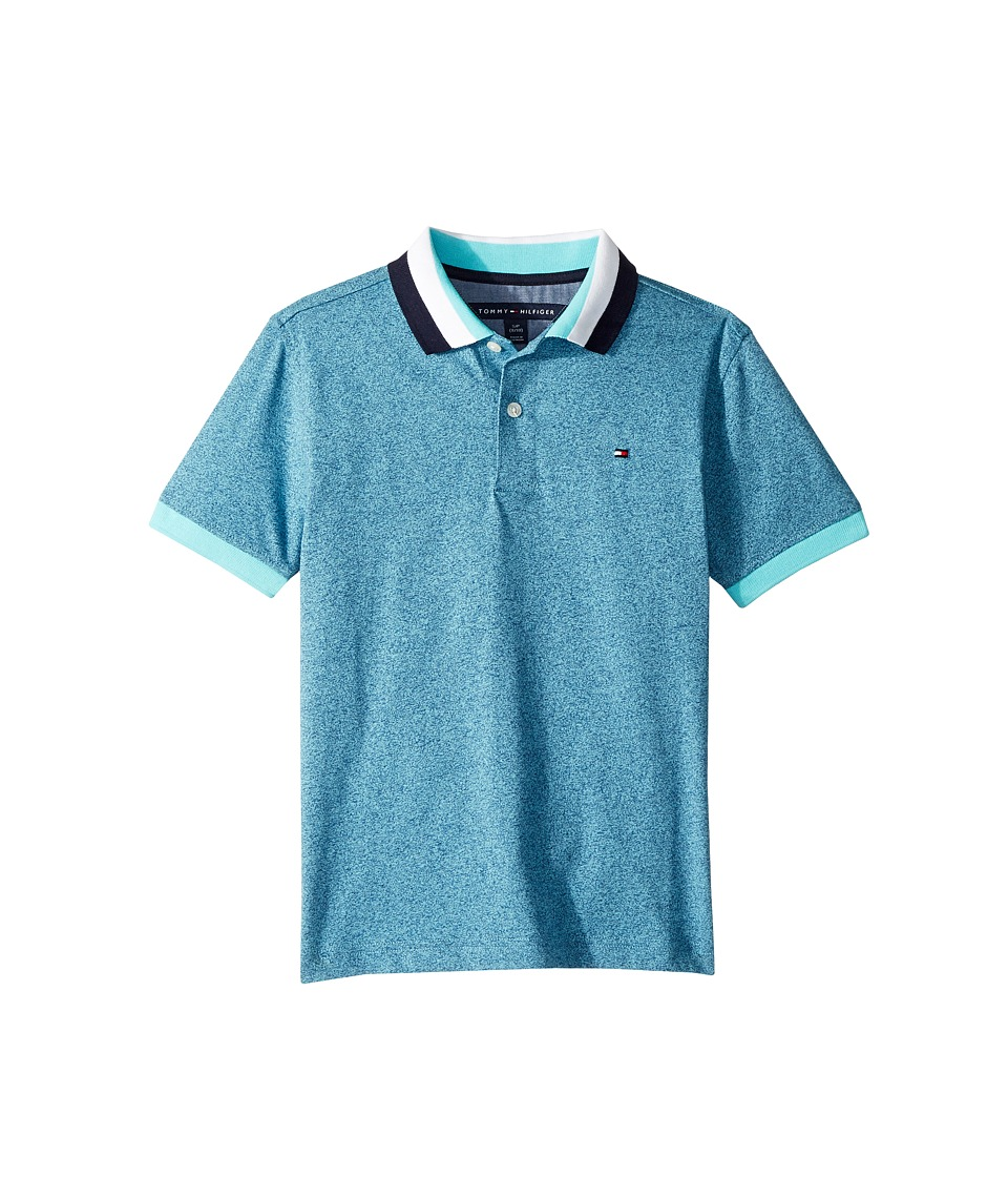 Tommy Hilfiger Kids - Twisted Polo (Big Kids) (Bermuda Blue) Boys Clothing
