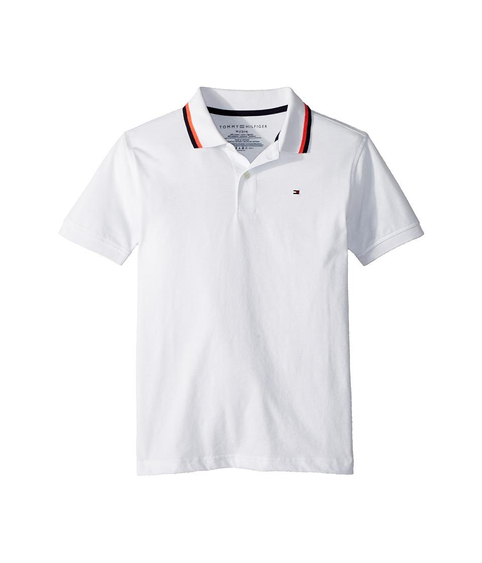 Tommy Hilfiger Kids - James Polo (Big Kids) (White) Boys Clothing