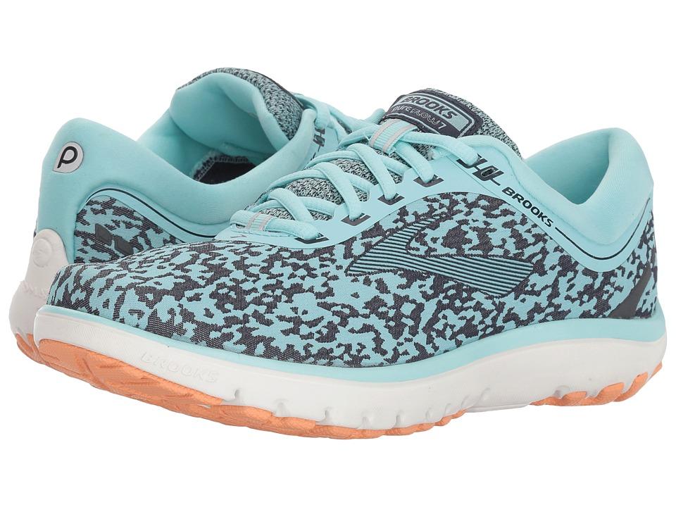 Brooks PureFlow 7 (Turquoise/Navy/Cantaloupe) Women's Running Shoes