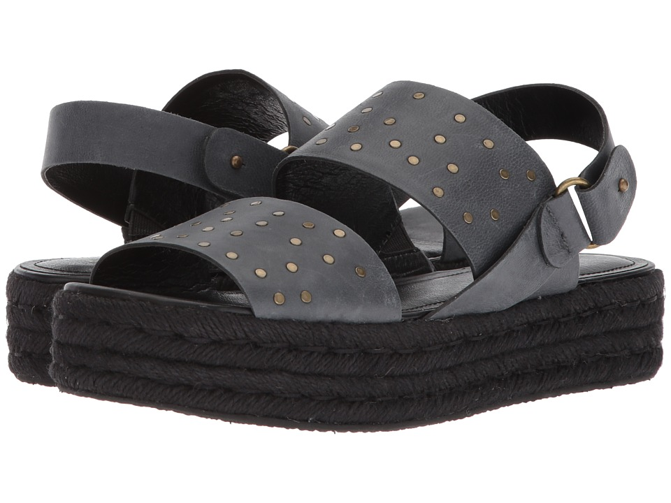 Kelsi Dagger Brooklyn - Devon Espadrille Sandal (Black Goat Leather) Womens Shoes