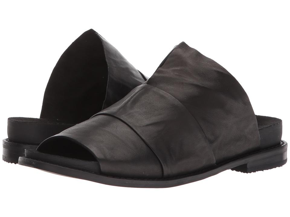 Kelsi Dagger Brooklyn Ohana Slide (Black Veg Leather) Women's Shoes