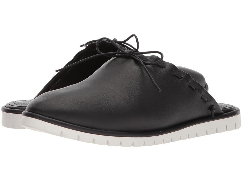 Kelsi Dagger Brooklyn - Reed Slide Sneaker (Black Nappa Leather) Womens Shoes