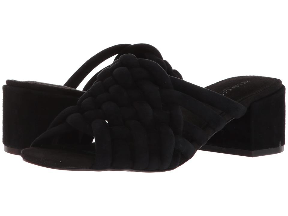 Kelsi Dagger Brooklyn - Sky (Black Suede) Womens Shoes