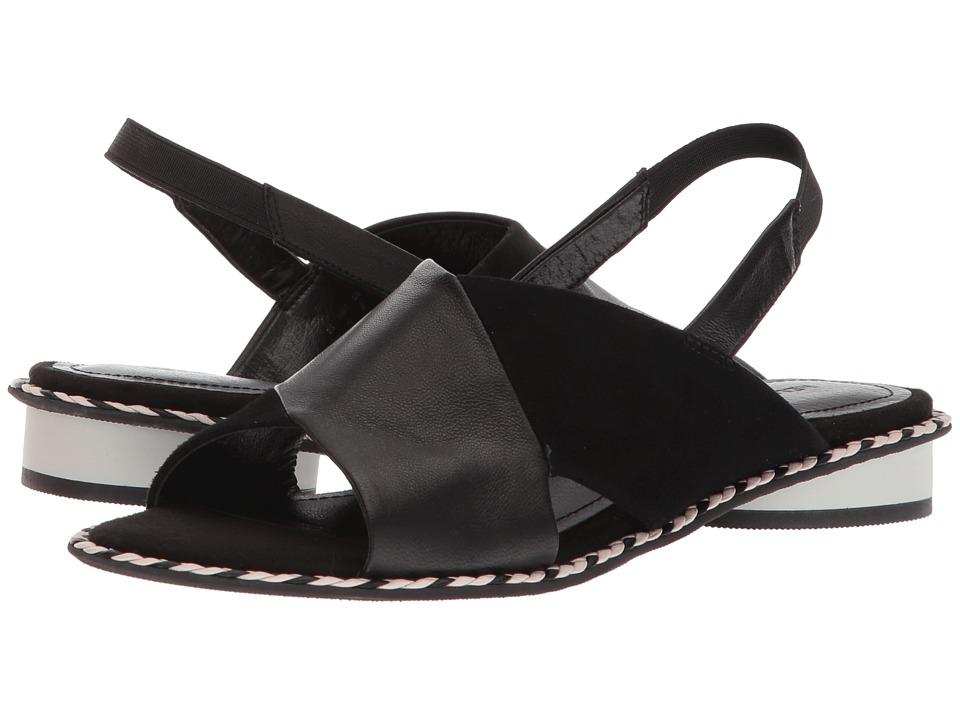 Kelsi Dagger Brooklyn - Saline (Black Leather/Suede) Womens Shoes
