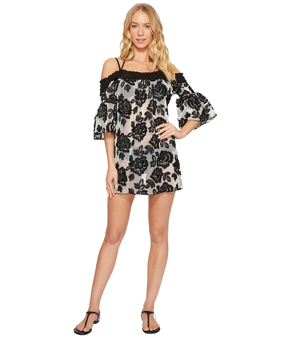 Isabella Rose Queen of Hearts Dress Cover-Up (Black/White) Women