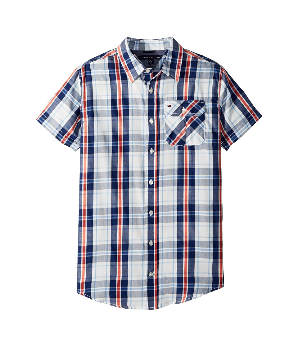 Tommy Hilfiger Kids - Short Sleeve Hong Shirt (Big Kids) (Flag Blue) Boys Clothing