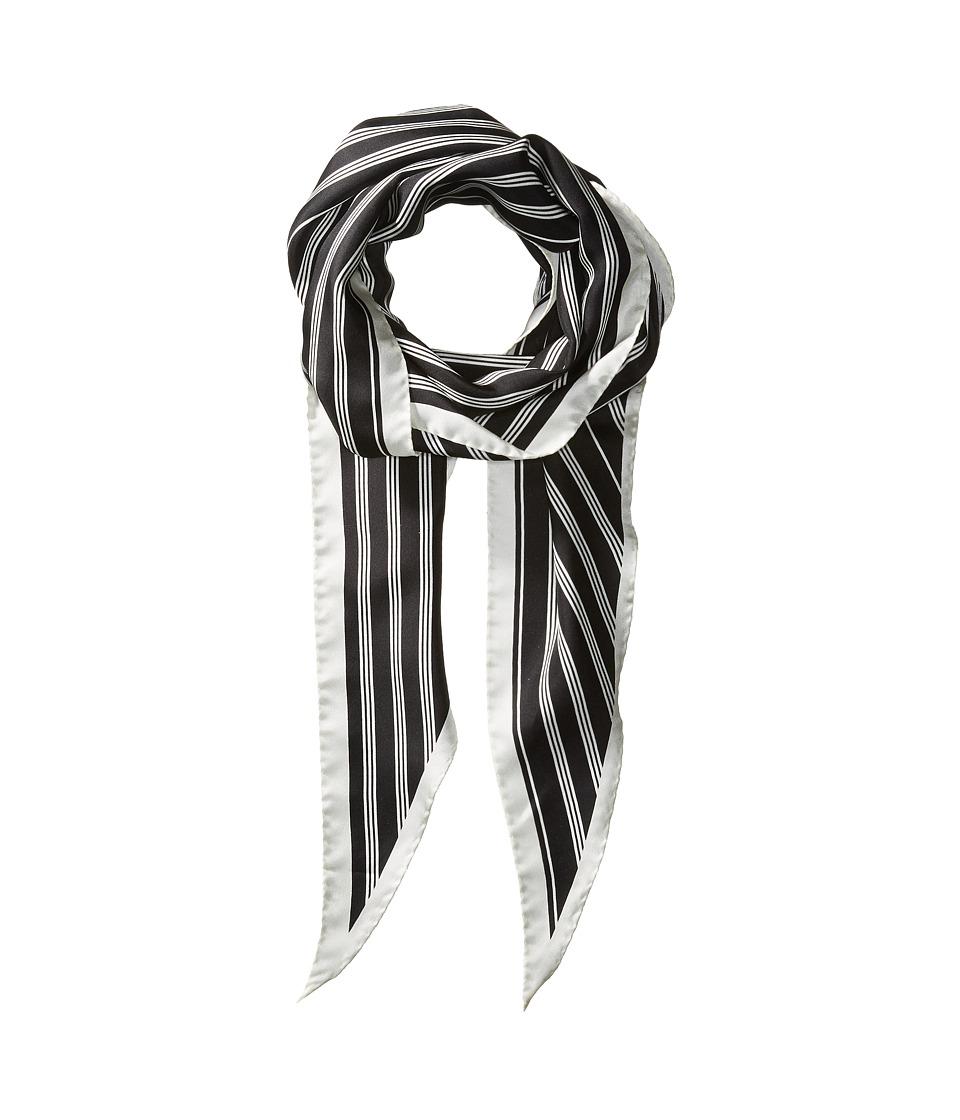 rag & bone - Narrow Silk Scarf (Black) Scarves