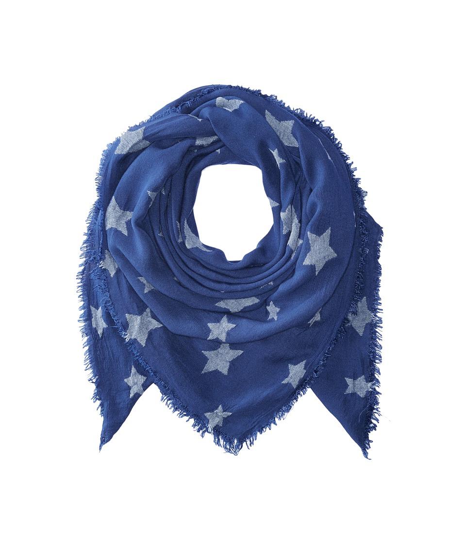 rag & bone - Star Scarf (Blue Multi) Scarves