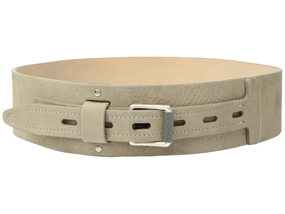 rag & bone - Field Waist Belt (Warm Grey Suede) Womens Belts