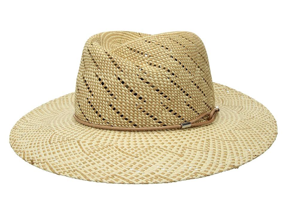 rag & bone - Zoe Straw Fedora (Taupe Multi) Fedora Hats