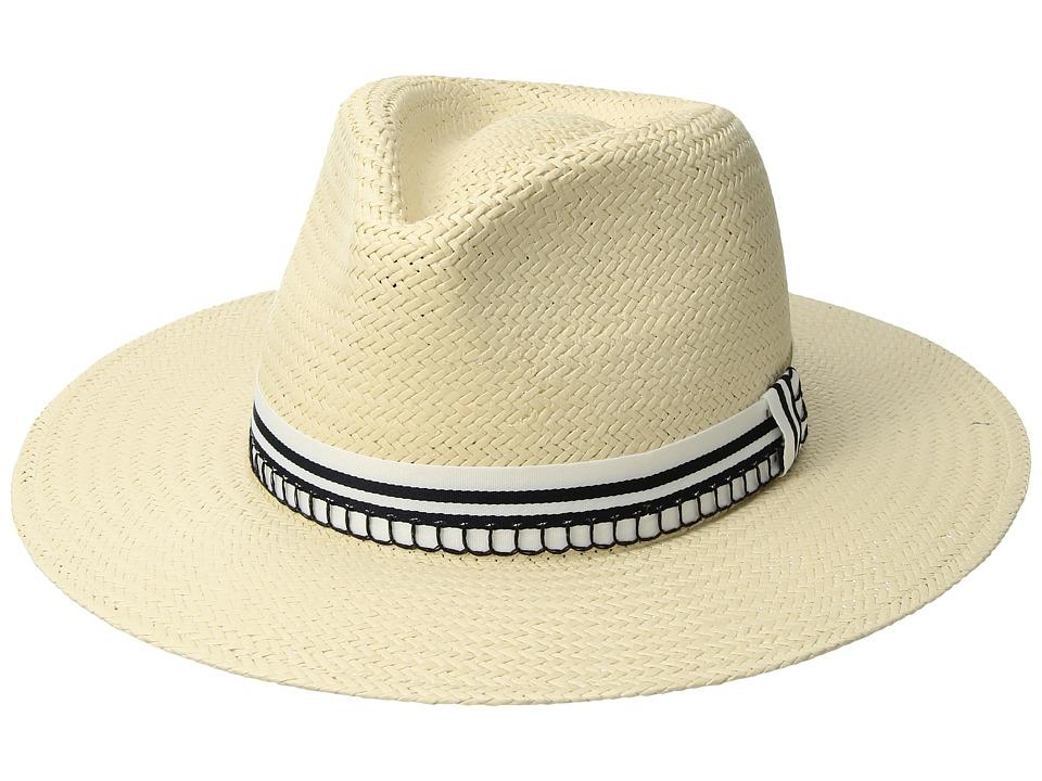 rag & bone - Packable Straw Fedora (Natural) Fedora Hats