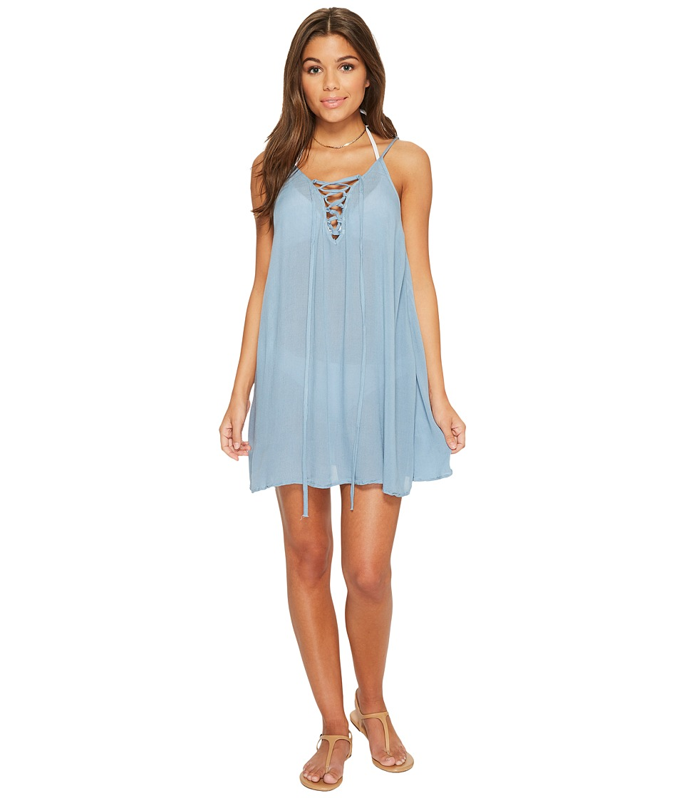 Roxy Softly Love Solid Dress Cover-Up (Blue Shadow) Women