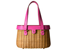 Frances Valentine Arielle Wicker Satchel with Lid