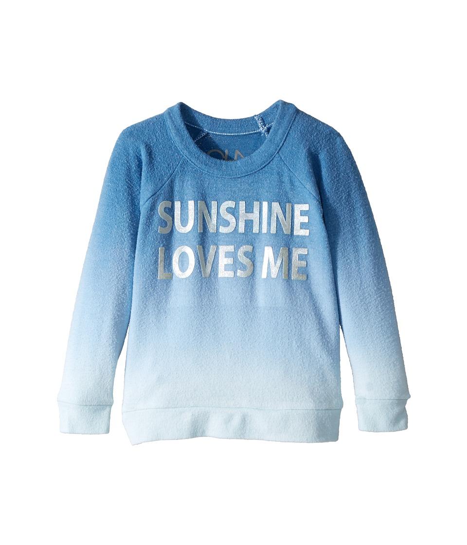 Chaser Kids - Love Knit Raglan Sunshine Loves Me Pullover (Toddler/Little Kids) (Ombre) Girls Clothing