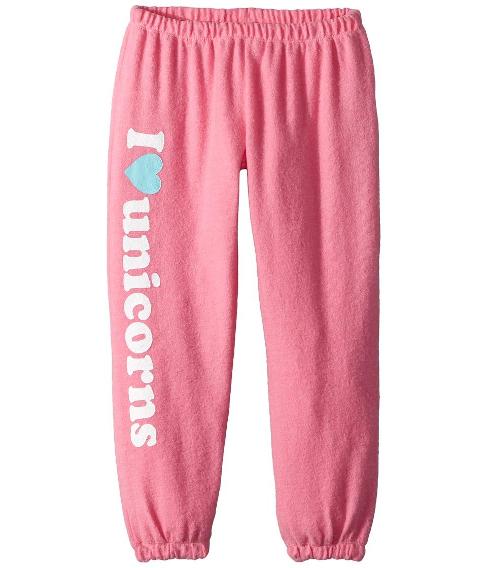 Chaser Kids - Soft Love Knit I Heart Unicorns Sweatpants (Toddler/Little Kids) (Princess Pink) Girls Casual Pants